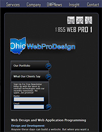 responsive web design sample